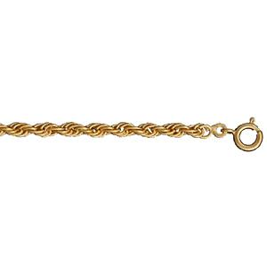 Collier en plaqué or maille corde - longueur 70cm - Vue 1