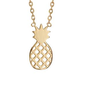 Collier plaqué or ananas - longueur 37+4cm - Vue 1