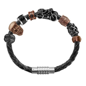 Composition bracelet Charms Thabora pour Homme acier baroudeur - Vue 1