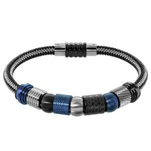 Composition bracelet Charms Thabora pour Homme acier noir gris et bleu - Vue 1