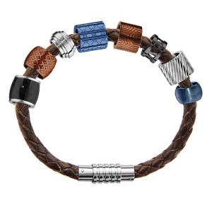 Composition bracelet Charms Thabora pour Homme cuir et couleurs - Vue 1