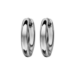 Créoles articulées en acier fil lisse - largeur 3mm et diamètre anneaux 12mm