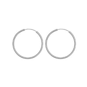 Créoles en Argent fil lisse diamètre 45mm - Vue 1