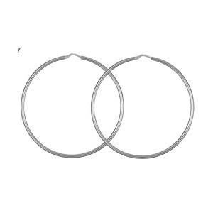 Créoles en Argent fil lisse diamètre 55mm - Vue 1