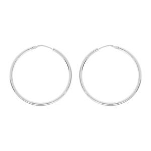 3d6c9610fb97b Créoles en argent fil lisse - diamètre anneaux 35mm