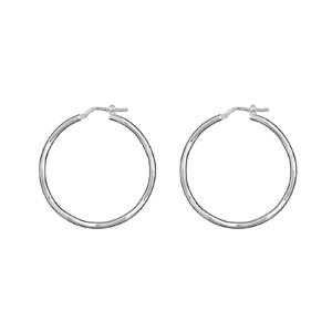 932115ba45133 Créoles en argent fil lisse et ondulé - diamètre anneaux 40mm