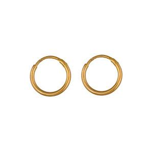 Créoles en plaqué or fil lisse - largeur 1,5mm et diamètre anneaux 14mm