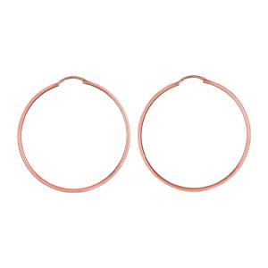 ... Créoles en plaqué or rose fil lisse - largeur 1,5mm et diamètre anneaux  45mm 0fc48db4f6b9