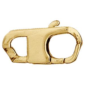 Fermoir plat en plaqué or ouvert - largeur 11mm - Vue 1
