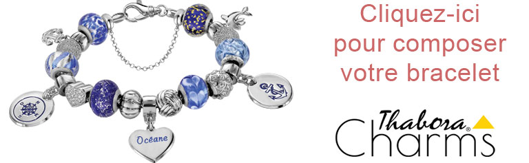 Composez votre bracelet Charms Thabora Argent
