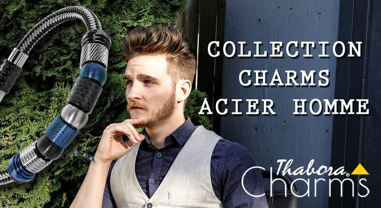 Bracelet Charms Acier Homme