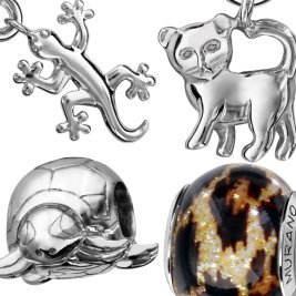 Charms Argent Animaux
