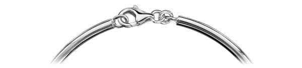 Bracelet jonc en argent massif pour charms largeur 3mm et diamètre 70mm et fermoir mousqueton