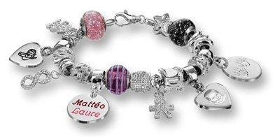Composition bracelet Charms Thabora en argent rhodié