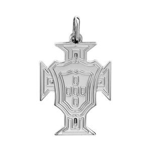 Pendentif croix du Portugal en argent rhodié petit modèle - Vue 1