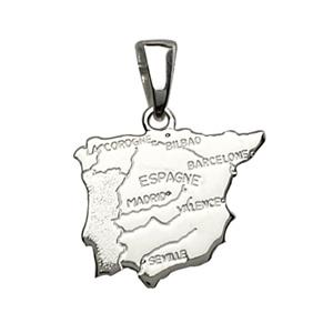 Pendentif en argent carte d\'Espagne - Vue 1