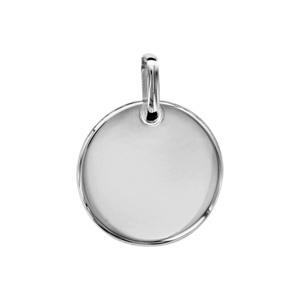 Pendentif en argent galet diamètre 18mm - Vue 1