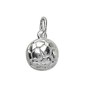 Pendentif en argent rhodié ballon de foot petit modèle
