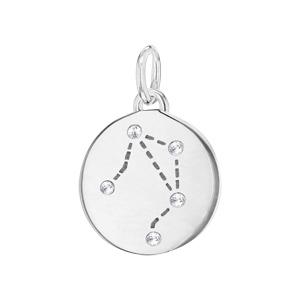 Pendentif en argent rhodié constellation Balance avec oxydes blancs - Vue 1
