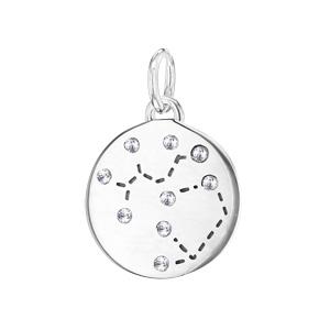 Pendentif en argent rhodié constellation Sagittaire avec oxydes blancs - Vue 1