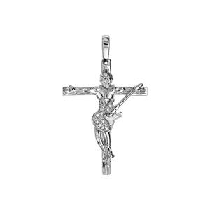 Pendentif en argent rhodié croix rock  - longueur 26mm - Vue 1