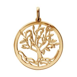 Pendentif en plaqué or arbre de vie découpé