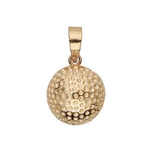 Pendentif en plaqué or balle de golf - Vue 1