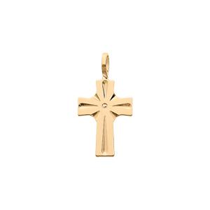 Pendentif en plaqué or croix - Vue 1