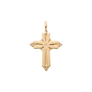 Pendentif en plaqué or croix occitane perlé - Vue 1