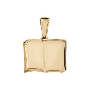 Pendentif en vermeil livre ouvert à graver petit modèle - plaque prestige - Vue 1