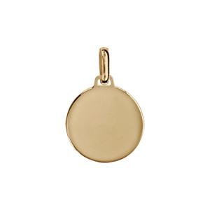 Pendentif en vermeil médaille à graver petit modèle - plaque prestige - Vue 1