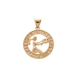 Pendentif en vermeil médaille zodiaque Vierge - Vue 1