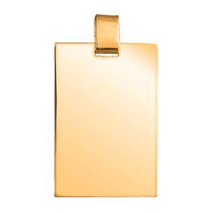 Pendentif en vermeil plaque G.I. rectangulaire dimensions 40mm X 58mm - Vue 1