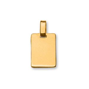 Pendentif en vermeil plaque G.I. rectangulaire à graver - dimensions 15mm X 20mm - plaque prestige - Vue 1