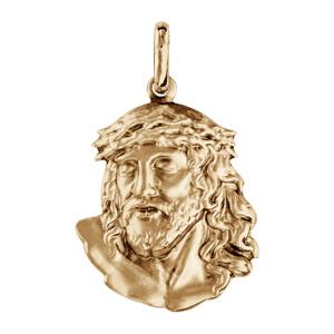 Pendentif en vermeil tête de Jésus Christ - Vue 1