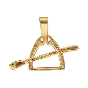 Pendentif Etrier cravache plaqué or - Vue 1