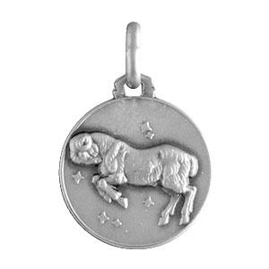 Pendentif médaille en argent zodiaque Bélier - Vue 1