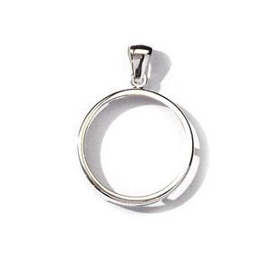 Pendentif porte pièce en argent diamètre 29,1mm