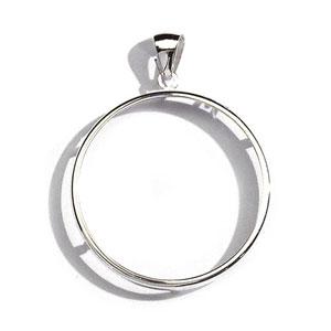 Pendentif porte pièce en argent diamètre 41,3mm