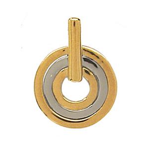 Pendentif Rond Moderne en argent et plaqué or - Vue 1
