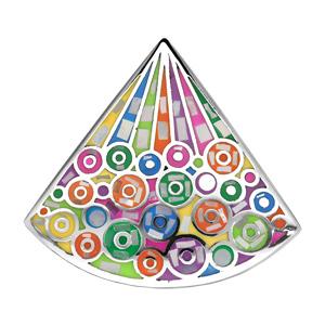 Pendentif Stella Mia en acier et nacre avec motifs bulles colorées - Vue 1