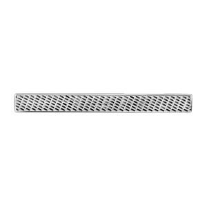 Pince a cravate en acier avec motif diamanté - Vue 1