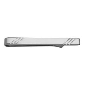 Pince à cravate en acier striée - Vue 1