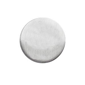 Pin\'s en argent rond diamètre 15mm à graver - Vue 1