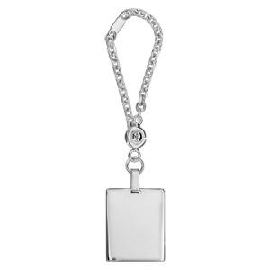 Porte-clef en argent plaque G.I. à graver - Vue 1