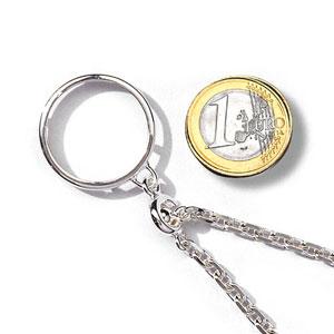 Porte-clef porte pièce en argent diamètre 23,5mm - Vue 1