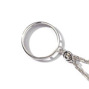 Porte-clef porte pièce en argent diamètre 29,1mm - Vue 1
