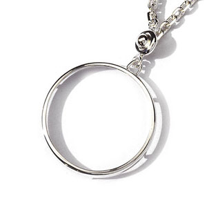 Porte-clef porte pièce en argent diamètre 37,5mm - Vue 1