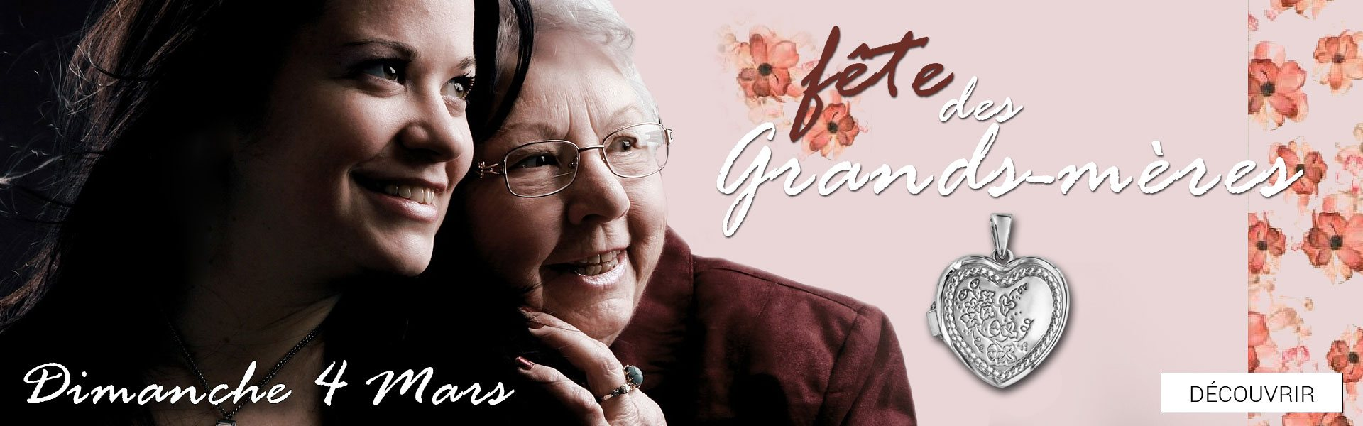 Dimanche 4 mars 2018, c\'est la fête des Grands-Mères