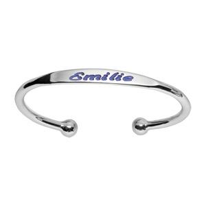 Bracelet jonc en argent esclave - petit modèle - Vue 2